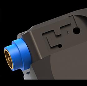 低域の応答性を高める<br>rear cavity pressure optimizer と <br>ワイドレンジで分離感の優れた音を実現する<br>composite housing structure イメージ