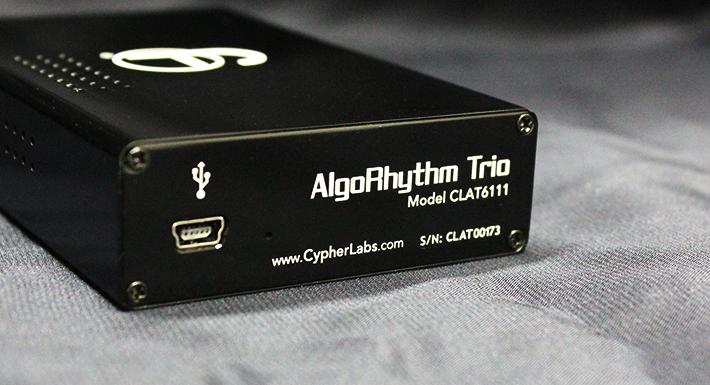 AlgoRhythm Trioポータブル真空管アンプフランス製の真空管「Thomson 6111」を採用